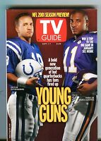 TV Guide Magazine September 1-7 2001 Peyton Manning EX No ML 091616jhe