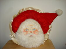 PILLOW UNIQUE SANTA FACE HAND PAINTED, VELVET, SATIN... BY LILLY  HOLIDAY DECOR