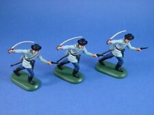 Civil War Toy Soldiers Britains Deetail Confederate Officers 3 Piece Set
