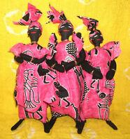 African Cloth Doll Set fancy wax print Africa dolls decor ddss177