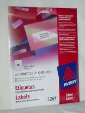 AVERY White Return Address Laser Labels 5267 Package 2000 New Fast Free Shipping