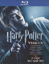 Harry Potter: Years 1-6 (Blu-ray Disc, 2009, 7-Disc Set, WS)