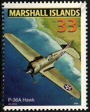 Us army CURTISS modèle 75 P-36 / P-36a Hawk avions de chasse timbre Menthe (USAAC)