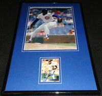 Lee Smith Signed Framed 11x17 Photo Display Chicago Cubs