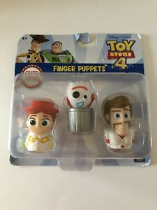 Disney Pixar Toy Story 4 Finger Puppets - Jessie, Forky & Duke Caboom NEW