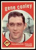 1959 Topps Baseball Gene Conley Philadelphia Phillies #492
