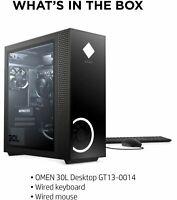 HP OMEN 30L AMD Ryzen 5 3.6GHz-CPU 8GB-RAM 256GB-SSD 1TB-HDD GTX1660 Super Win10