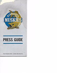 1967-68 Minnesota Muskies Media Guide ABA One Year Wonders RARE!!