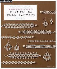 """NEW"" Tatting Lace Bracelet & Pierce 70 / Japanese Craft Book How to Make"
