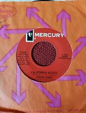 Lesley Gore 45 California Nights/ I'm Going Out pop rock w/Mercury sleeve VG/VG+