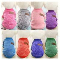Small Dogs Soft Pet Dog Knit Sweater Chihuahua Winter Clothes Classic Pet Outfit