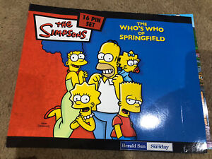 The Simpsons - 16 Pin Set - The Who's Who Of Springfield - Herald Sun