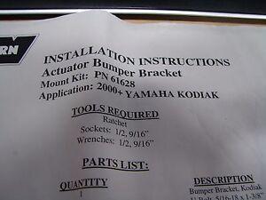 WARN Winch Actuator Bumper Bracket For Yamaha Kodiak 2000: P/N 61628