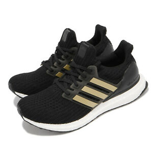 adidas Ultraboost 4.0 DNA W Black Gold White Women Running Casual Shoes FY9334