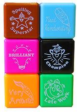 6 X Reward Stamps Bright Ink Teachers Self Inking Motivation Praise Sticker