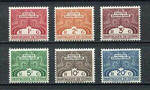 27408) GUINEA 1959 MNH** Nuovi** Tax Postage Due 6v