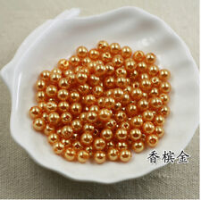 With Holes  ABS Pearl Round Beads Spacer Jewelry Making 6mm/8mm
