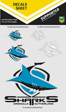 NRL Cronulla Sharks UV Car Tattoo UV Decal Sticker