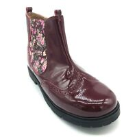 Start-rite Girls' Chelsea Ankle Boots Wine Patent/Floral 40% OFF RRP