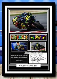 (79) valentino rossi moto gp signed photograph unframed/framed reprint @@@@@