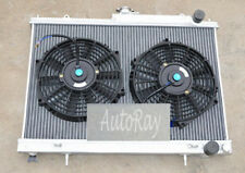 Aluminum Radiator for Nissan Skyline R33 R34 GTR GTS-T 42mm & 2 Fans