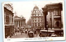*1930s Mansion House Royal Exchange London Uk Street View Vintage Postcard C84