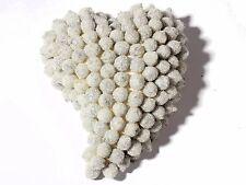 Czech extra large hand ballotini bead heart Christmas tree ornament decoration
