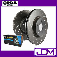 NISSAN NAVARA D40 2WD & 4WD - RDA Front SLOTTED Brake Discs & EXTREME Pads