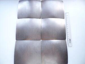 Titanium bulletproof plates for army body armor, 1.5 mm, original, set of 6 pcs