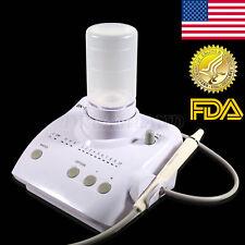 FDA Dental Ultrasonic Scaler Cleaner w/ EMS Woodpecker Tips Auto Dosing Bottles
