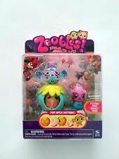 Spin Master Zoobles Monkey and Panda + Happitat