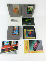 4 NES Carts w/ Manuals Authentic Nintendo: Mario/Duck Hunt, Super Sprint, Golf..