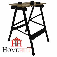 Heavy Duty 125KG Portable Folding Workbench Wood Bench Work Clamping Worktop DIY