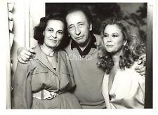 """1986 RAI DUE """"Fuori Scena"""" - Enzo MUZII tra Valeria MORICONI e Gina LAGORIO FOTO"""