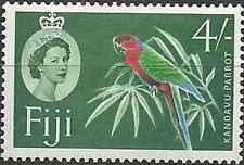 Timbre Oiseaux Perroquets Fidji 166A * lot 21785