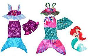 NEW SZ 2-8 KIDS COSTUMES DISNEY MERMAID GIRLS DRESS UP PARTY CHILDREN GIFT