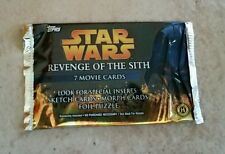 Starwars Revenge of the Sith movie cards 1 pack each. (Not box)