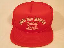 Vintage Hat Mens Cap SIDDERS AUTO REBUILDERS Shattuck, Oklahoma [Y155e]