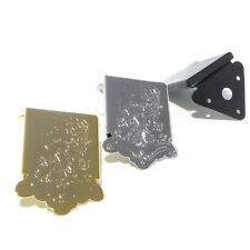 Quality mandolin tailpiece in chrome black or gold engraved tail piece