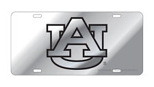 AU AUBURN UNIVERSITY Tigers Silver Mirrored License Plate / Car Tag