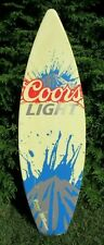 2014 Coors Light Beer Surfboard Advertising Display Bar Pub Full Size Sign