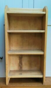 Vintage pine 3 shelf free standing unit - 3 ft high