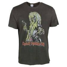 Herren-T-Shirts aus Baumwolle mit Iron Maiden Amplified