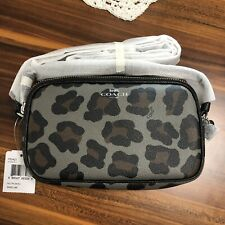 NEW COACH CROSSBODY POUCH WITH OCELOT PRINT