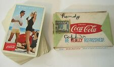 Vintage Coca Cola Playing Cards Mid Century Beach Complete Deck Pin Up Americana