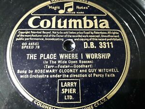 Rosemary Clooney & Guy Mitchell - The Place Where I Worship - 78 rpm