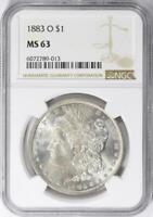 1883-O Morgan Silver Dollar - NGC MS-63 - Certified Mint State 63