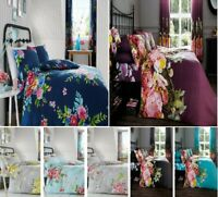 Luxuries Reversible ALICE FADDED FLORAL Duvet Cover+Pillow Case Bed Set All Size