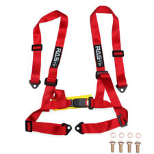 Us Adjustable 2 4 Point Racing Car Harness Seat Belt Safety Strap For Jdm Red