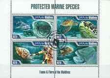 Timbres Faune marine Maldives 4111/4 o de 2013 lot 15724 - cote : 15 €